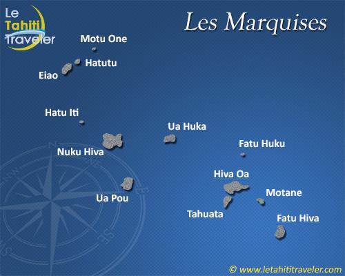 Carte des Marquises | Arts et Voyages